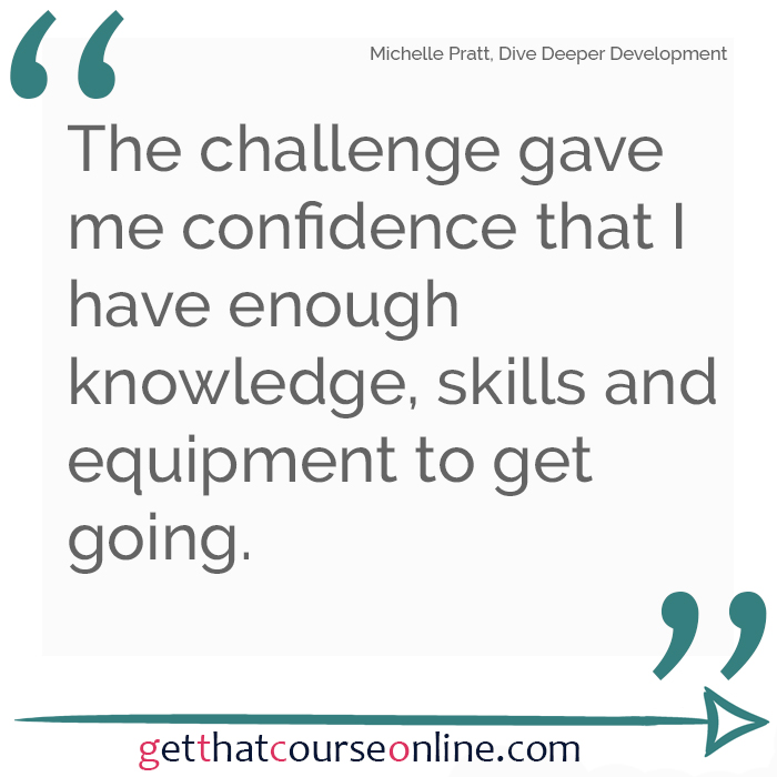 Michelle Challenge equals confidence